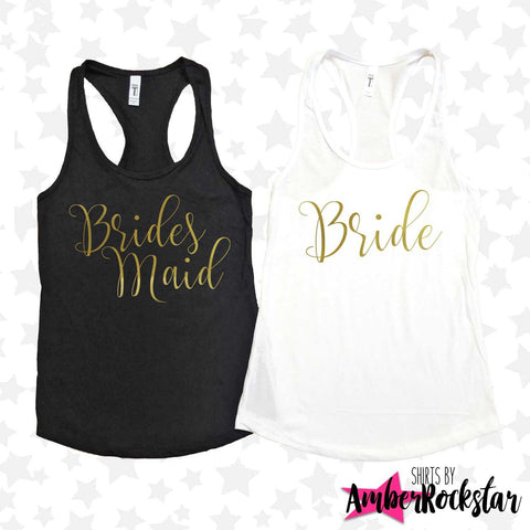 Bachelorette Party Shirts | Bridal Party Tank Tops | Bridesmaid Proposal Shirts | Bride Squad Shirt | Bridesmaid Gift | Bridesmaid Tank