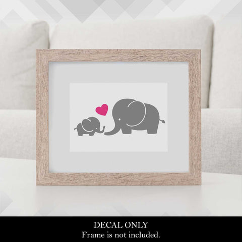 Baby and Momma Elephant Decal