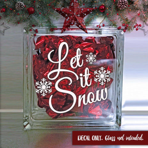 Let it Snow Decal - Christmas Shadow Box Decal - Winter Decorations