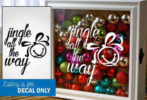 Jingle All the Way - Script Jingle Bell Design | Amber Rockstar