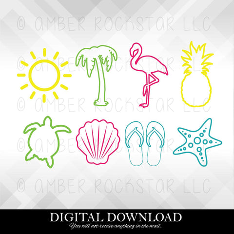 DIGITAL DOWNLOAD: Beach Graphics | SVG file