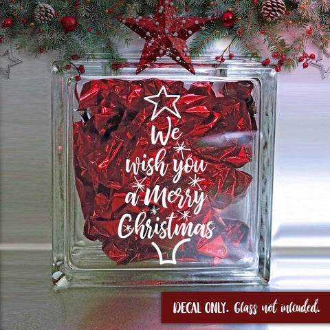 We Wish You A Merry Christmas Decal | Amber Rockstar