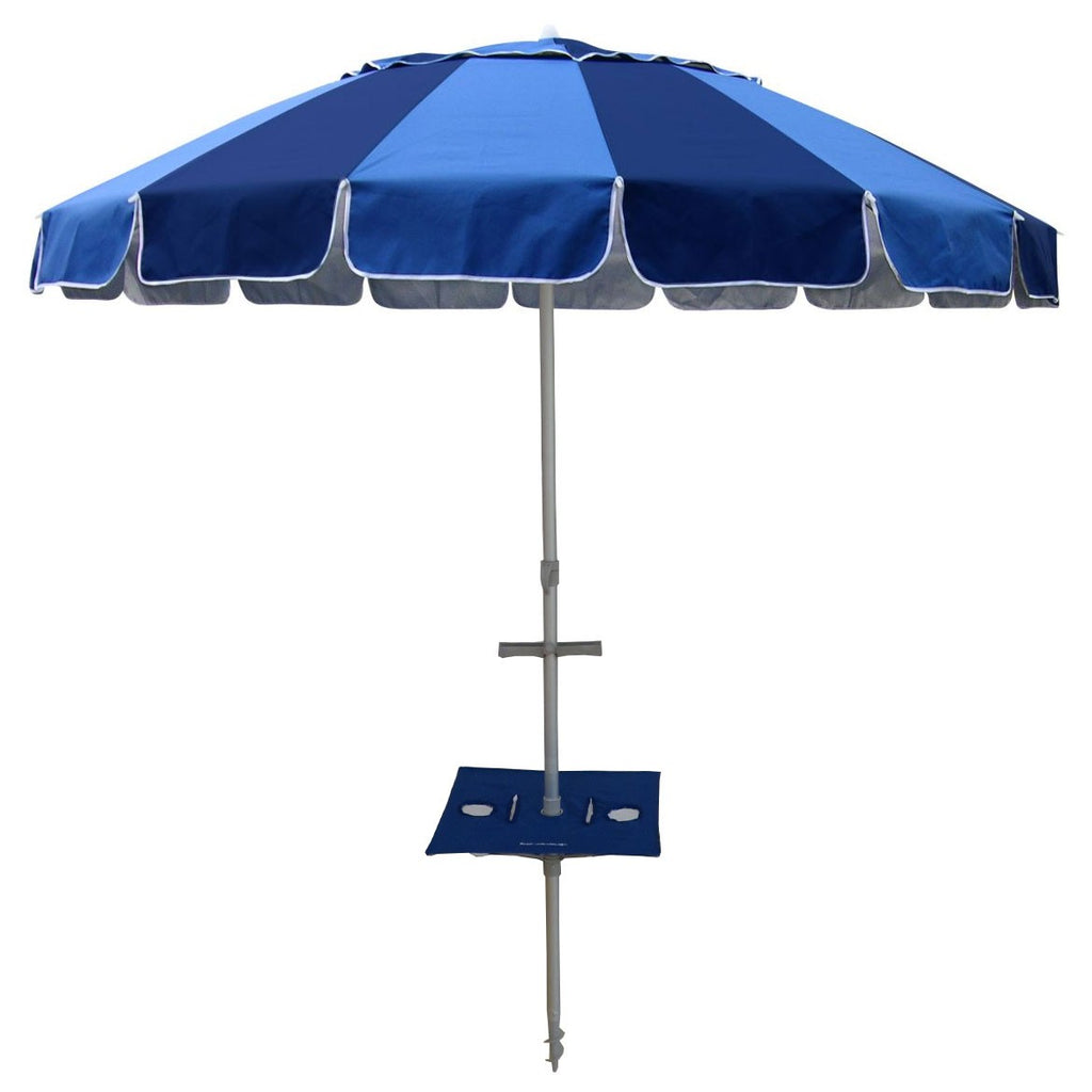 Beachkit Carnivale with Sunraker Table 240cm Royal and Navy