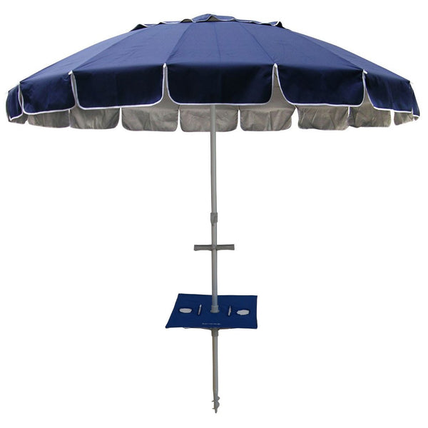 Beachkit Maxibrella With Sunraker Table 240cm Navy Blue