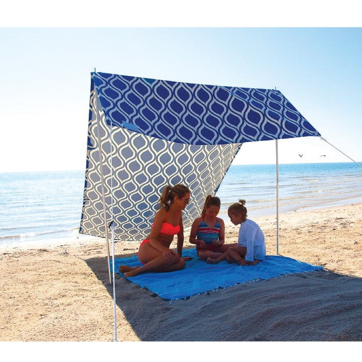 Hollie and Harrie Sombrilla Beach Shelter Moroccan Blue
