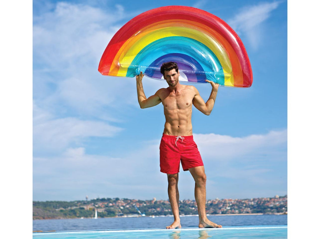 Sunnylife Luxe Lie-On Float Inflatable Rainbow