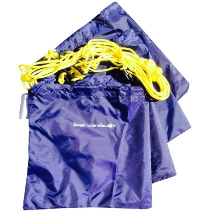 Beachkit Umbrella Sand Weight Bag 4 pc Tether Kit