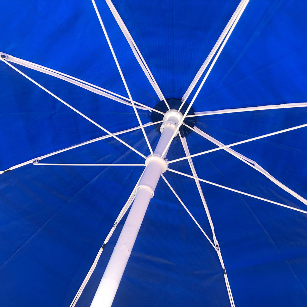 Shelta Avalon 200cm Vinyl Beach Umbrella Royal Blue