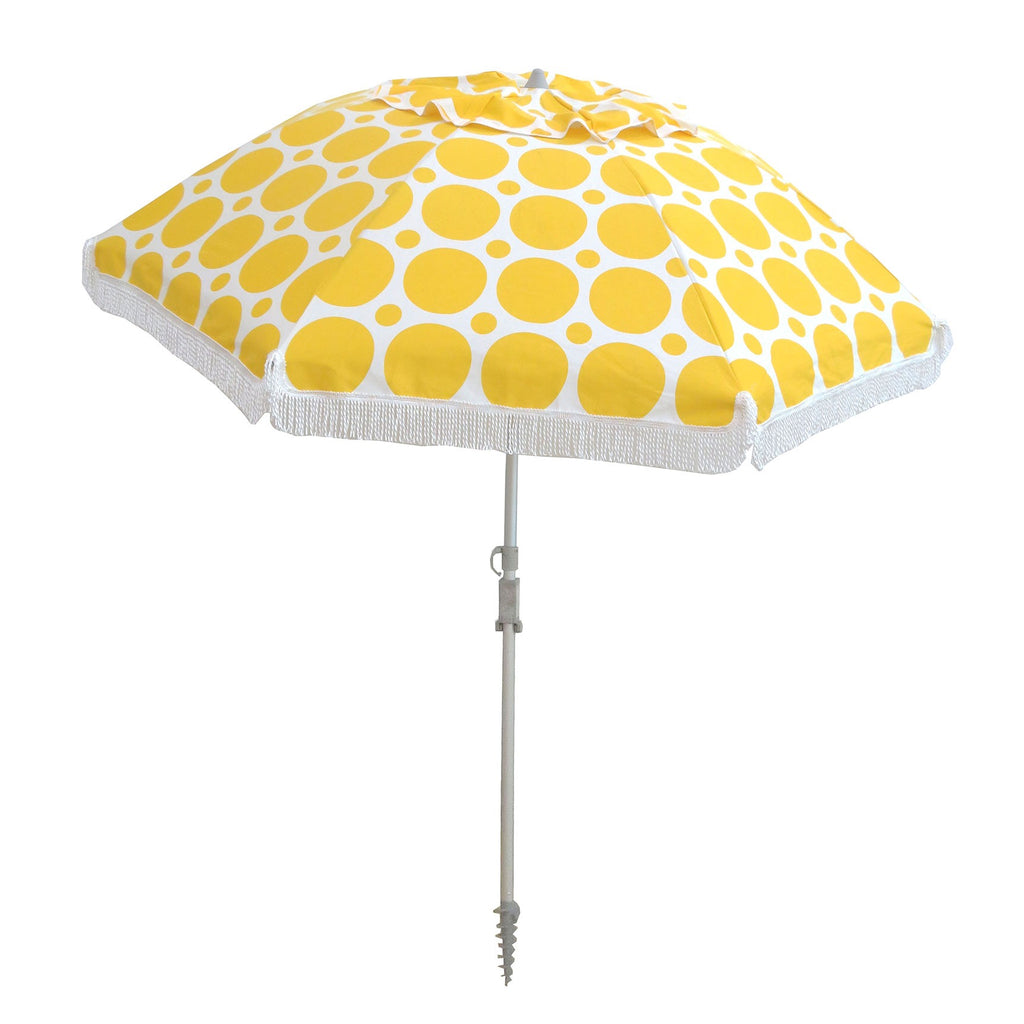 Hollie And Harrie 210cm Fringe Beach Umbrella Morning Sunshine