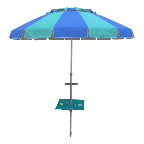 Beachkit Carnivale with Sunraker Table 240cm Royal and Turquoise
