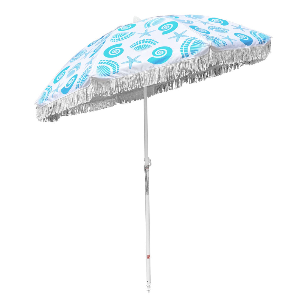 Shelta Balmoral Fringed 200cm Sky Blue
