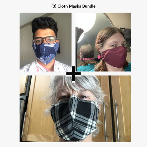 3 Cloth Masks Bundle