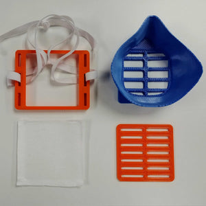 Blue Orange 3D Mask Parts