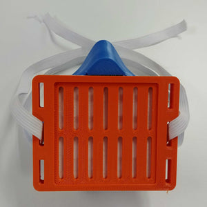 Blue Orange 3D Mask Front View