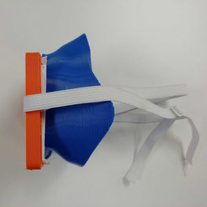 Blue Orange 3D Mask Side View