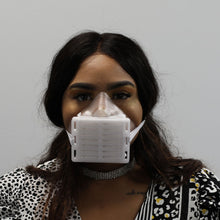 Load image into Gallery viewer, Clear 3D Printed Face Mask Front View