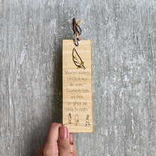 Load image into Gallery viewer, Inspirational quote premium wooden engraved bookmark, Reader's collection