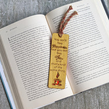 Load image into Gallery viewer, Tea lover premium wooden engraved bookmark, Reader's collection