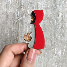 Load image into Gallery viewer, Laser cut Red Riding Hood brooch pin | Badge, Fantasy collection