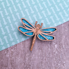 Load image into Gallery viewer, Laser cut Dragonfly brooch pin | Badge, Fantasy collection