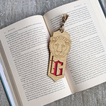 Load image into Gallery viewer, Harry Potter inspired Hogwarts house Gryffindor premium wooden engraved bookmark, Fantasy collection