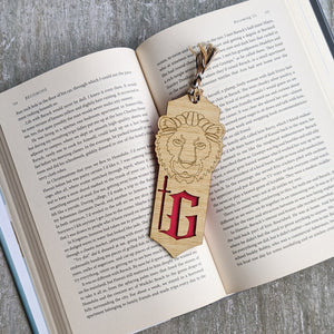 Harry Potter inspired Hogwarts house Gryffindor premium wooden engraved bookmark, Fantasy collection