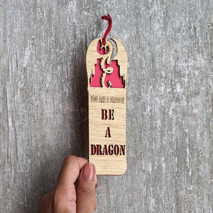 Game of Thrones inspired Dragon theme premium wooden engraved bookmark, Fantasy collection