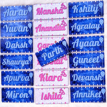 Load image into Gallery viewer, Customized kids designer handpainted wooden name plate
