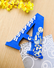 Load image into Gallery viewer, Wooden designer monogrammed initials decorated with embellishments | Blue
