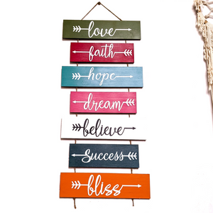 Handpainted wooden pallet motivational wall art | Vibe slate