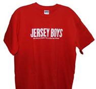 Jersey Boys Logo T-Shirt (Red)