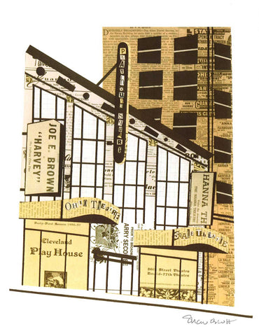 Playhouse Square Print by Paper Cutz