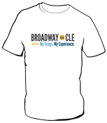 Broadway in CLE White T-Shirt