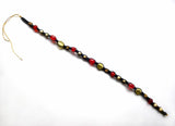 Black, Red and Gold Tie-in Dread Jewel