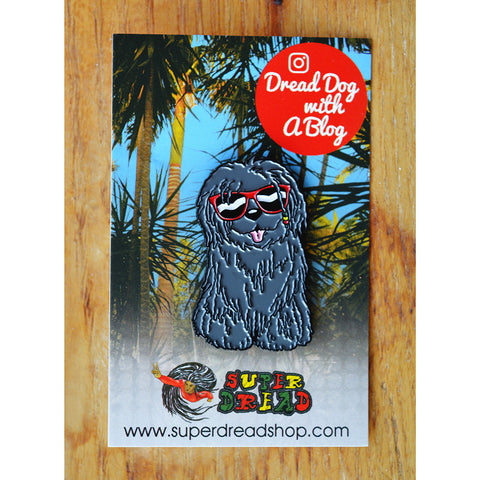 Super Dread Dreadlock Dog Pin Badge