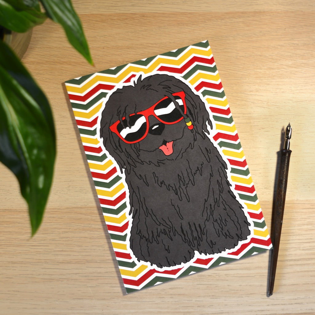 Dreadlock Dog Punky Reggae Party A5 Lined Notebook