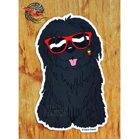 Large Super Dread Dreadlock Dog Sticker