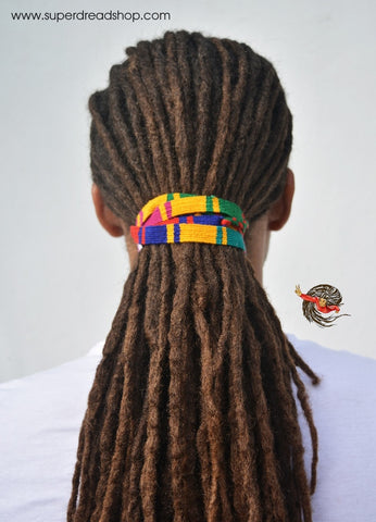 Multi-coloured Long Dreadlocks Hair Tie