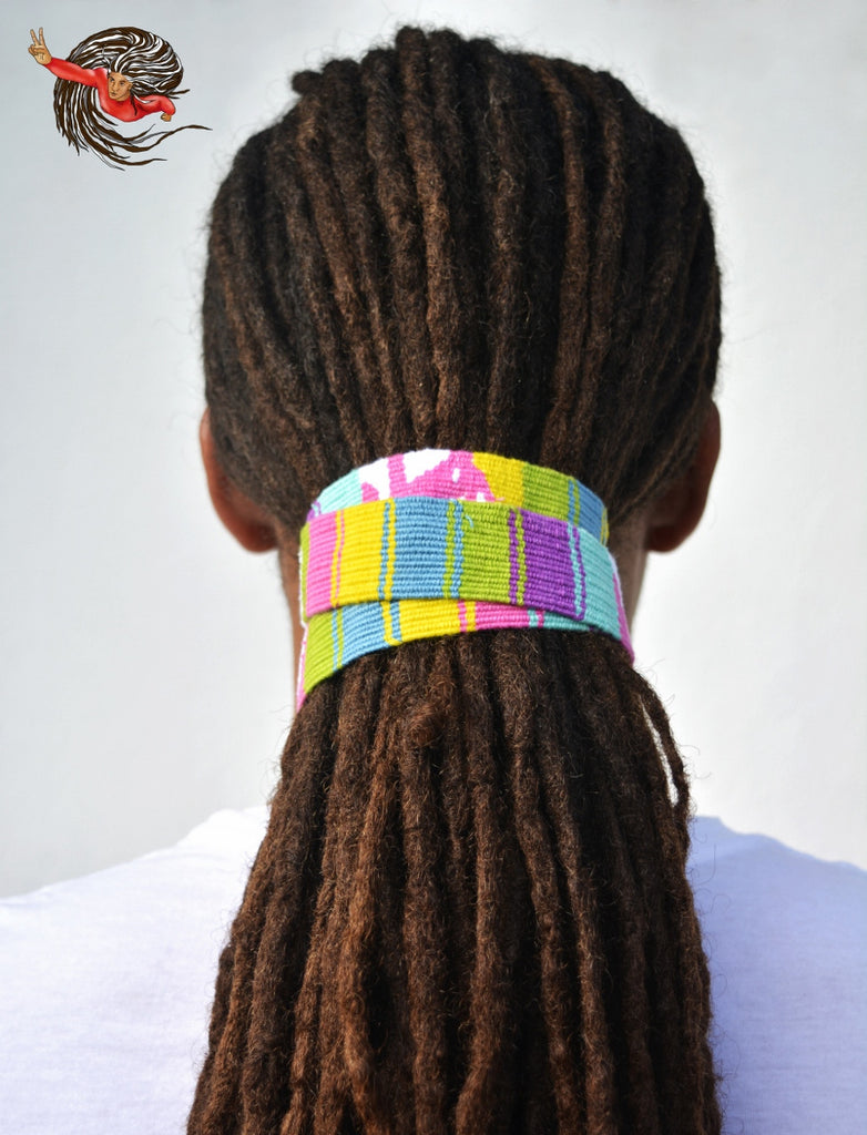 Colourful Pastel Long Dreadlocks Hair Tie