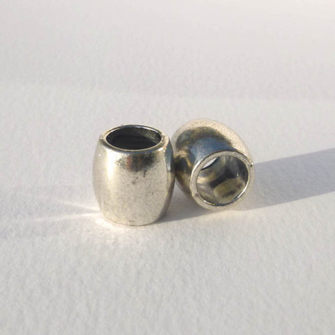 Silver Barrel Dreadlock Bead