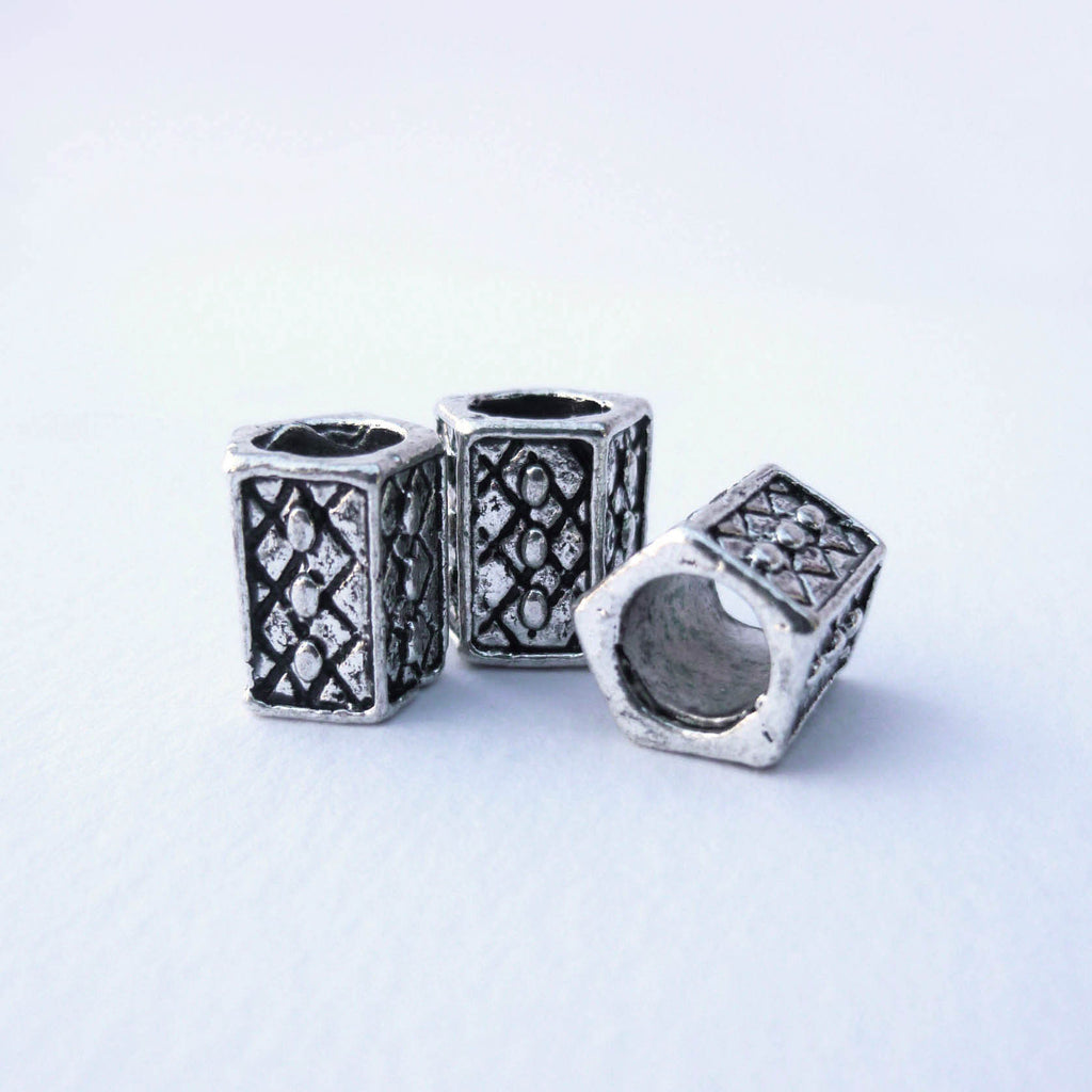 Silver Pentagon Dreadlock Bead