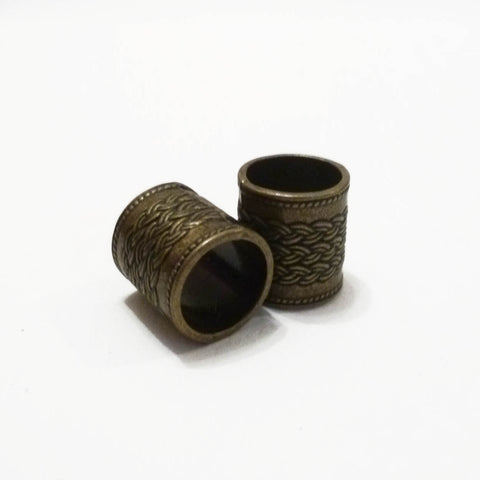 Big Bronze Decorated Dreadlock Bead