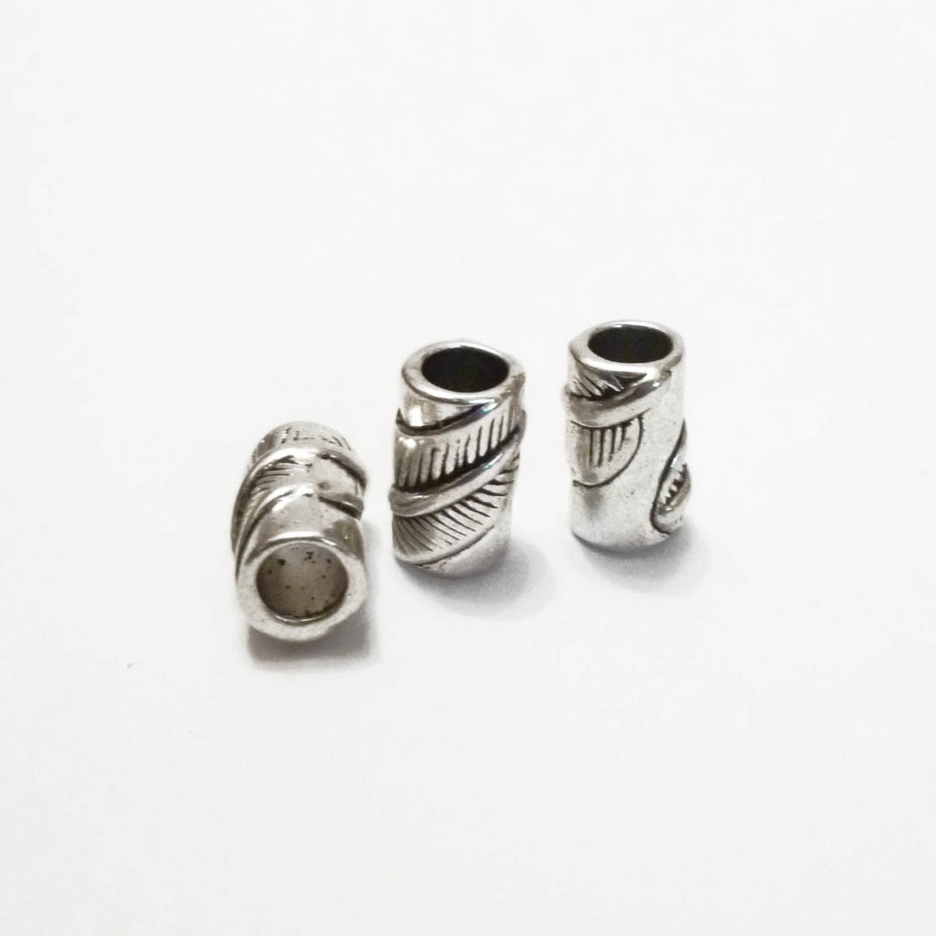 Silver Leaf Dreadlock Bead