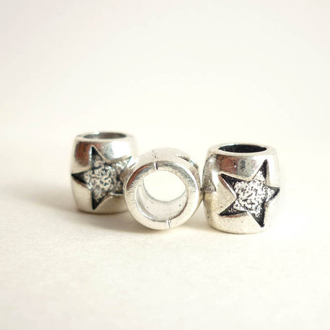 Silver Star Dreadlock Bead