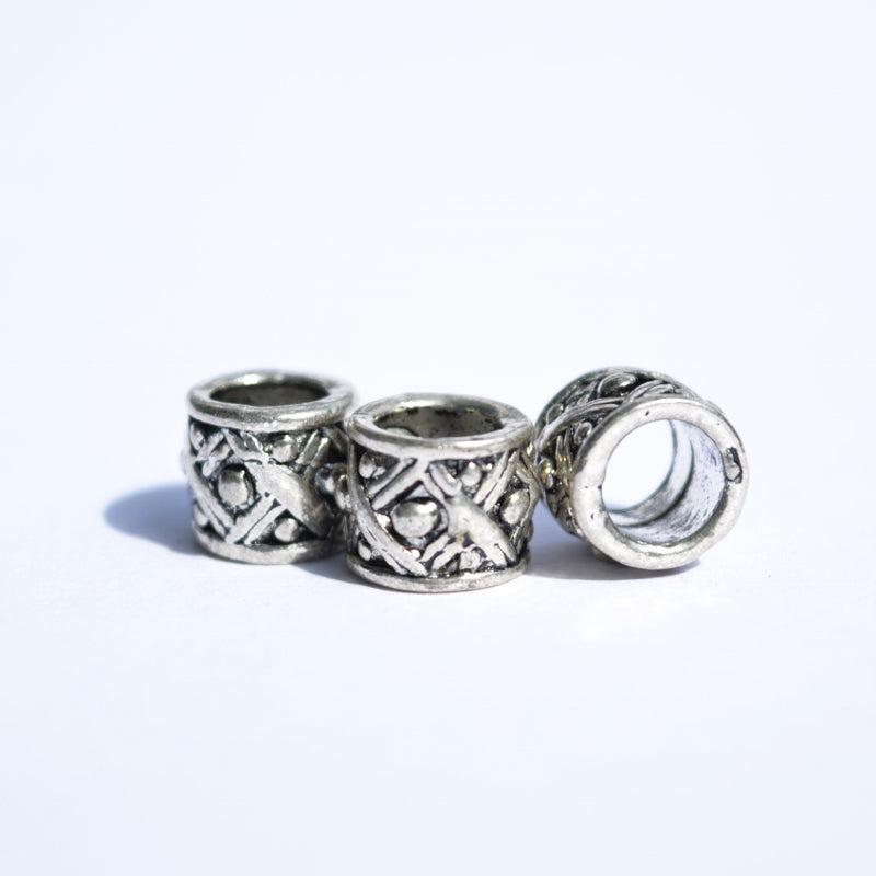Silver Lattice Dreadlock Bead