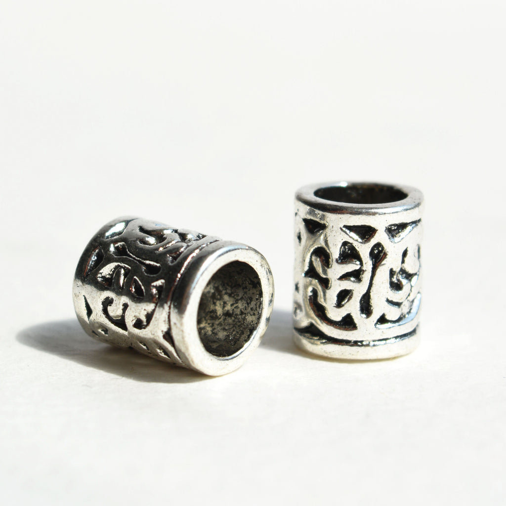 Silver Tribal Bead