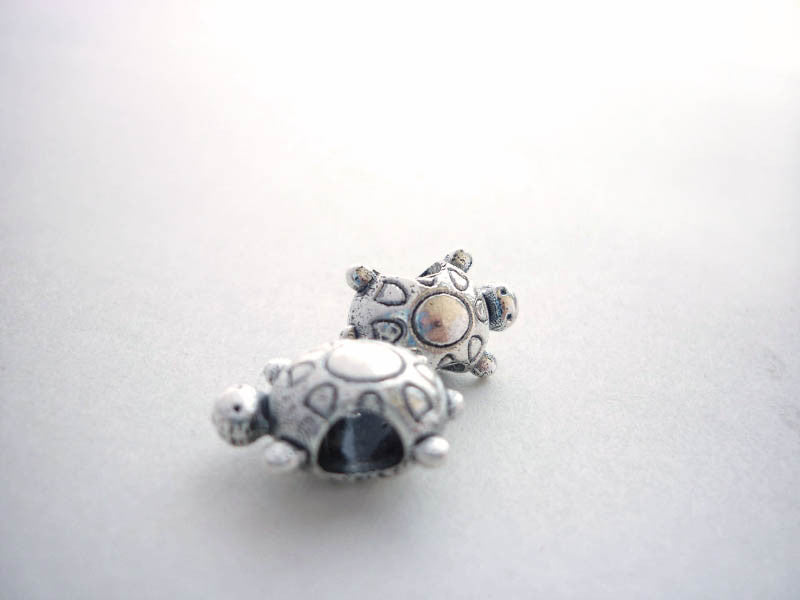 Silver Turtle Dreadlock Bead