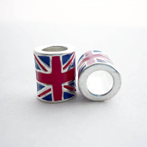 Metal Union Jack Dreadlock Bead