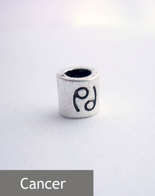 Cancer Horoscope Dreadlock Bead