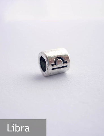 Libra Horoscope Dreadlock Bead